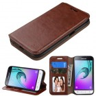 Samsung Galaxy J1 Brown Wallet(with Tray)