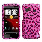 HTC Droid Incredible 4G LTE Pink Leopard Skin Case