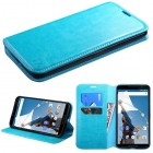 Motorola Nexus 6 Blue Wallet(with Tray)