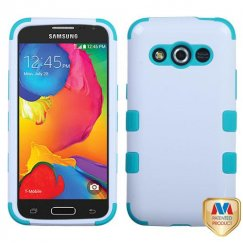 Samsung Galaxy Avant Ivory White/Tropical Teal Hybrid Case