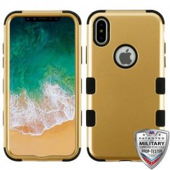 Apple iPhone X Gold/Black Hybrid Case Military Grade