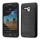 Alcatel One Touch Fierce XL Black/Black Brushed Hybrid Protector Cover