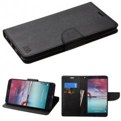 ZTE Grand X Max 2 Black Pattern/Black Liner wallet with Card Slot