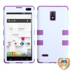 LG Optimus L9 Ivory White/Electric Purple Hybrid Case