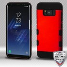 Titanium Red/Black Hybrid Protector Cover [Military-Grade Certified]