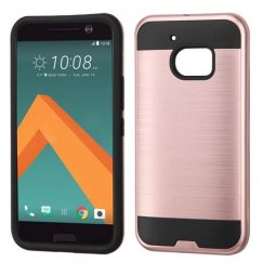 HTC 10 Rose Gold/Black Brushed Hybrid Case
