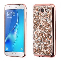 Rose Gold Mini Crystals Rhinestones Desire Candy Skin Cover (with Electroplated Rose Gold Frame)