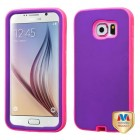 Samsung Galaxy S6 Rubberized Grape/Electric Pink Hybrid Case