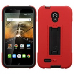 Alcatel One Touch Conquest Black/Red Symbiosis Stand Case