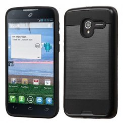 Alcatel Stellar / Tru 5065 Black/Black Brushed Hybrid Case