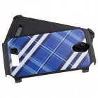 ZTE Obsidian Blue Diagonal Plaid/Black Astronoot Phone Protector Cover