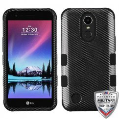 LG K10 Carbon Fiber/Black Hybrid Case Military Grade
