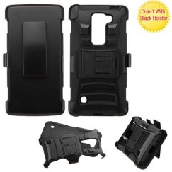 LG Escape 2 Black/Black Advanced Armor Stand Case with Black Holster