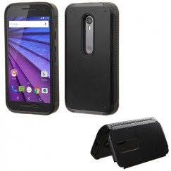 Motorola Moto G Black Inverse Advanced Armor Stand Case