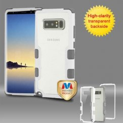Samsung Galaxy Note 8 Natural Ivory White Frame PC Back/Iron Gray Vivid Hybrid Case