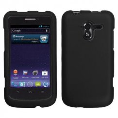 ZTE Avid 4G Black Case - Rubberized