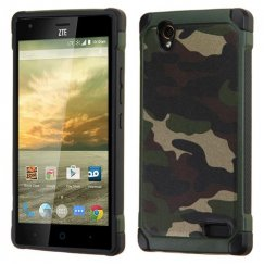 ZTE Warp Elite Camouflage Green Backing/Black Astronoot Case