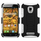 Alcatel One Touch Fierce Black/White Car Armor Stand Case - Rubberized