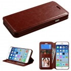 Apple iPhone 6/6s Brown Wallet(with Tray)
