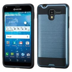 Kyocera Hydro Reach / Hydro View Ink Blue/Black Brushed Hybrid Case