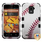 ZTE Warp 4G Baseball-Sports Collection/Black Hybrid Case
