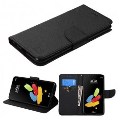 LG G Stylus 2 Black Pattern/Black Liner wallet with Card Slot