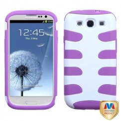 Samsung Galaxy S3 Ivory White/Electric Purple Fishbone Case