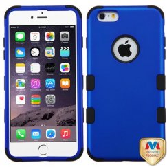 Apple iPhone 6/6s Plus Titanium Dark Blue/Black Hybrid Case