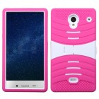 White/Hot Pink Wave Symbiosis Case with Horizontal Stand
