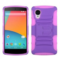 LG Nexus 5 Purple/Electric Pink Advanced Armor Stand Case