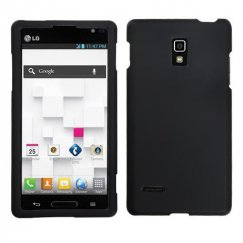 LG Optimus L9 Black Case - Rubberized