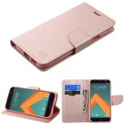 HTC 10 Rose Gold Pattern/Rose Gold Liner wallet with Card Slot