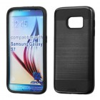Samsung Galaxy S7 Black/Black Brushed Hybrid Case