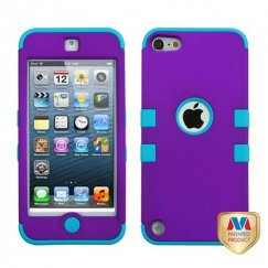 Apple iPod Touch (5th Generation) Rubberized Grape/Tropical Teal Hybrid Case