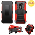 Black/Red Advanced Armor Stand Case with Black Holster