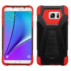 Samsung Galaxy Note 5 Red Inverse Advanced Armor Stand Case