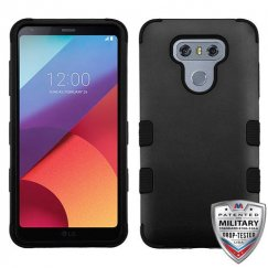 LG G6 Rubberized Black/Black Hybrid Case Military Grade