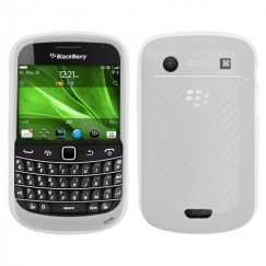 Blackberry 9900 Bold Solid Skin Cover - Translucent White