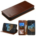 Alcatel One Touch Fierce XL Brown Wallet(with Tray)