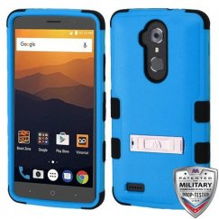 ZTE Blade Max 3 / Max XL Natural Dark Blue/Black Hybrid Case with Stand Military Grade