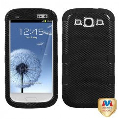 Samsung Galaxy S3 Carbon Fiber/Black Hybrid Case