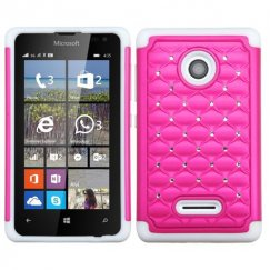 Nokia Lumia 435 Hot Pink/Solid White FullStar Case