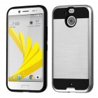 HTC Bolt Silver/Black Brushed Hybrid Case