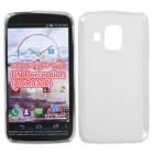 Pantech Perception Semi Transparent White Candy Skin Cover - Rubberized