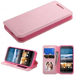 HTC One M9 Pink Wallet with Tray