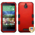 HTC Desire 510 Titanium Red/Black Hybrid Case