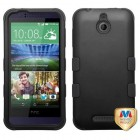 HTC Desire 510 Rubberized Black/Black Hybrid Case