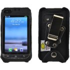 Samsung Rugby Pro SGH-i547 Turtleback Heavy Duty Nylon Case with Metal Clip