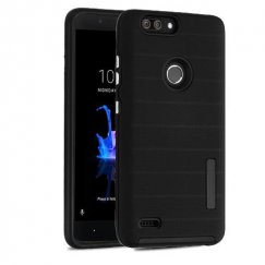 ZTE Blade Z Max / Sequoia Z982 Black Dots Textured/Black Fusion Case