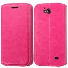 ZTE Maven / Overture 2 / Fanfare Hot Pink Wallet with Tray